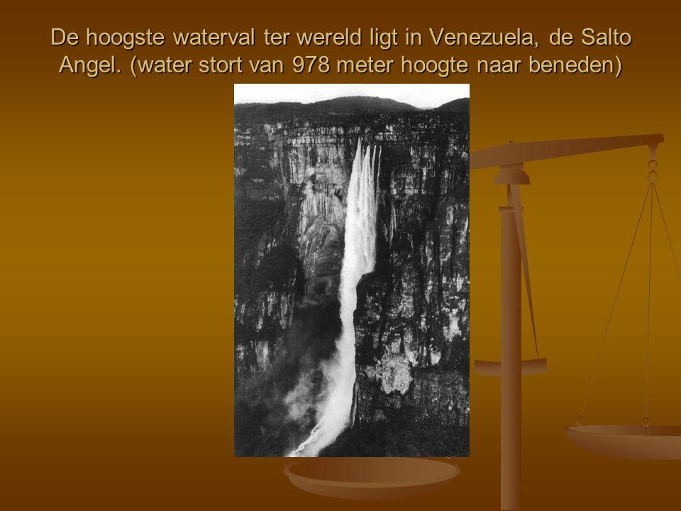 De hoogste waterval ter wereld ligt in Venezuela, de Salto Angel