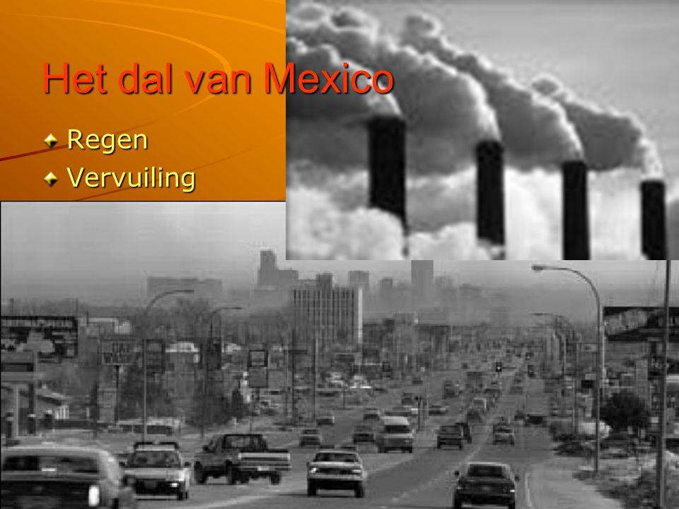 Het dal van Mexico Regen Vervuiling