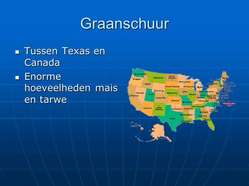Graanschuur Tussen Texas en Canada Enorme hoeveelheden mais en tarwe