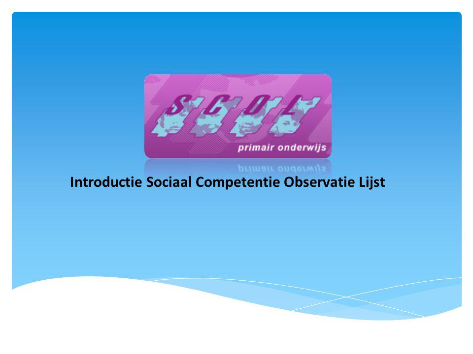 Introductie Sociaal Competentie Observatie Lijst