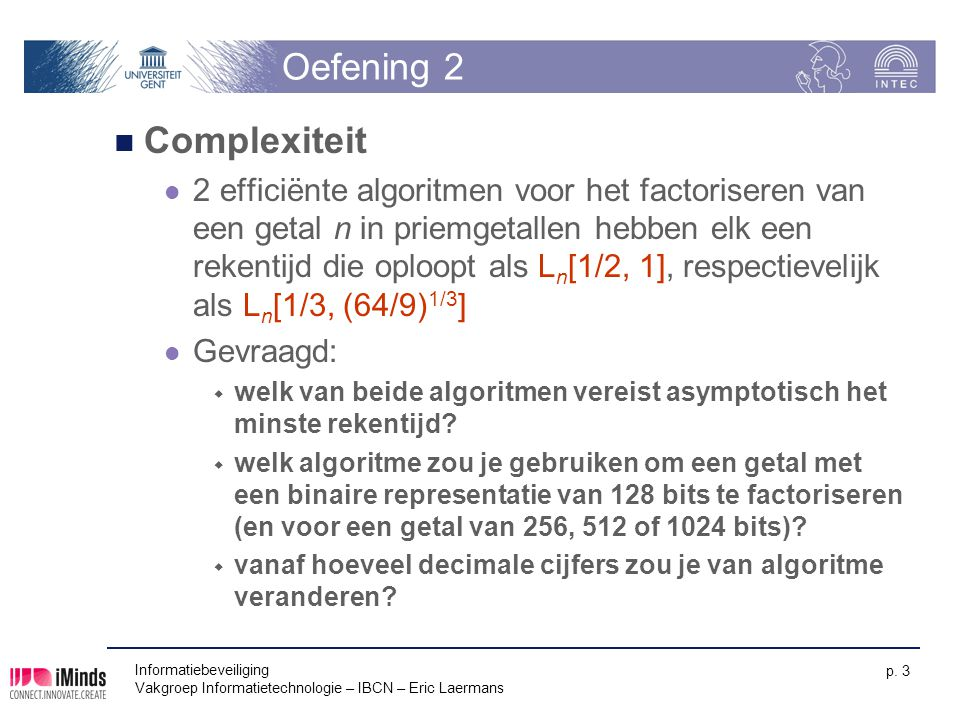 Oefening 2 Complexiteit