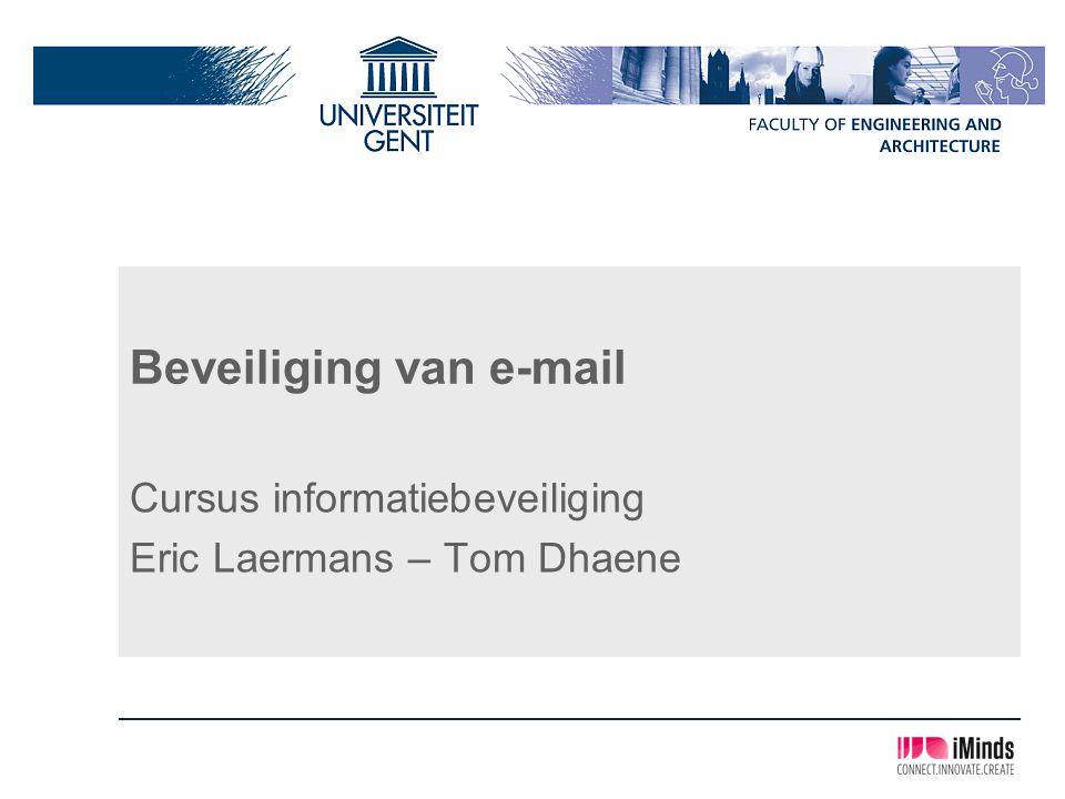 Beveiliging van e-mail