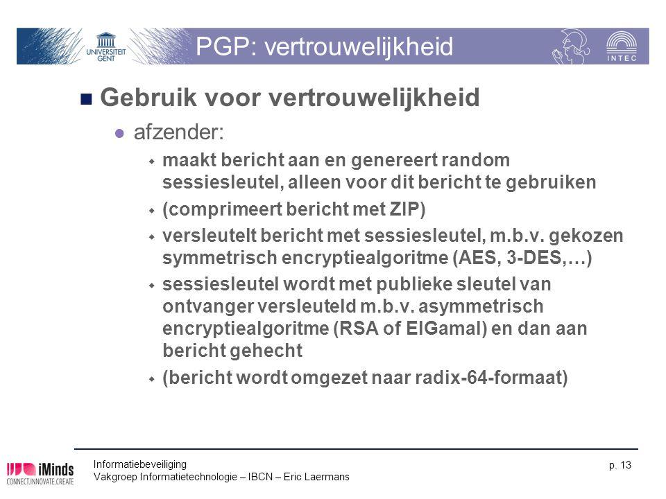 PGP: vertrouwelijkheid