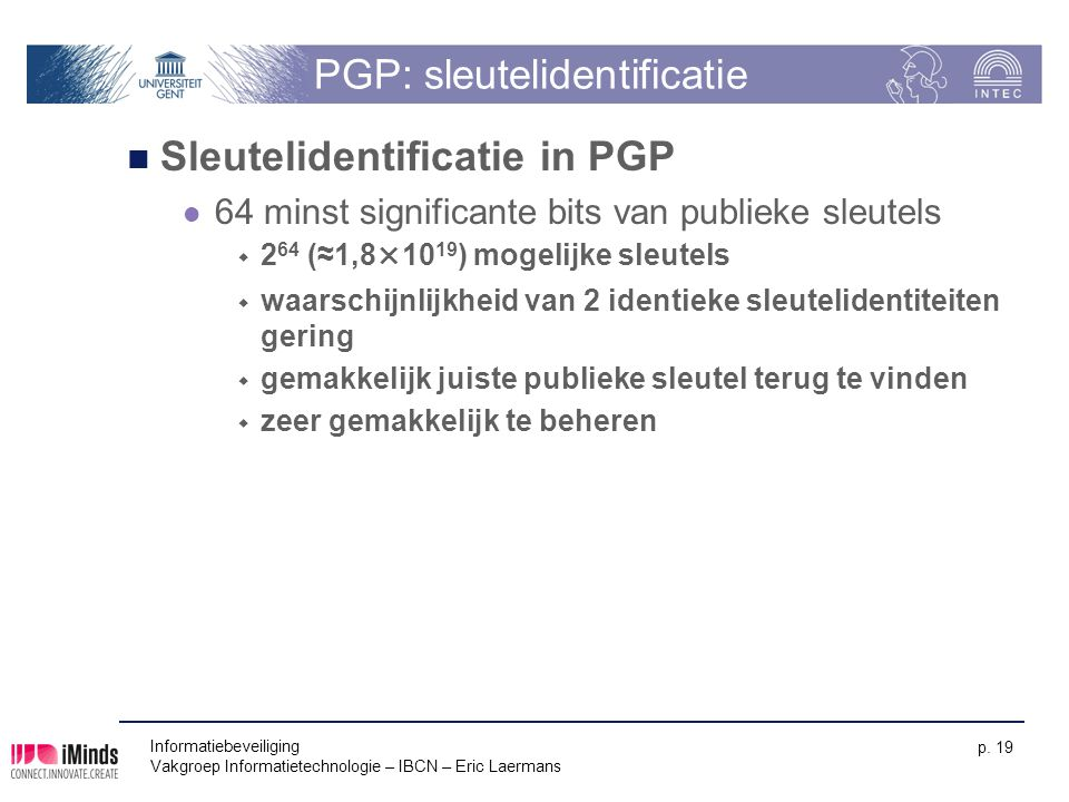 PGP: sleutelidentificatie