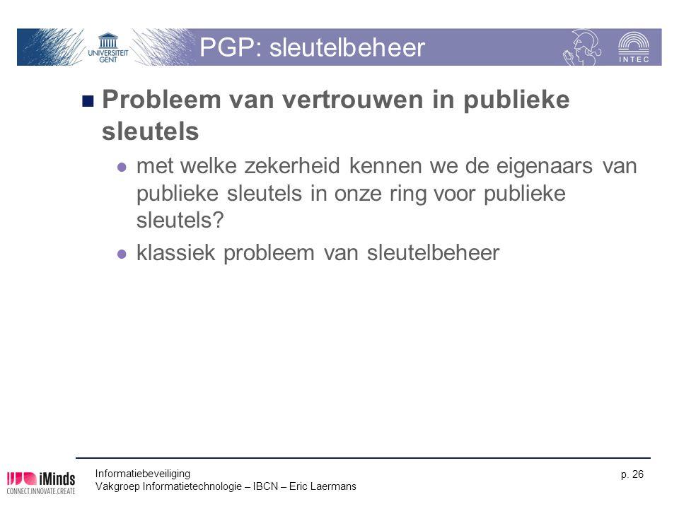 Probleem van vertrouwen in publieke sleutels