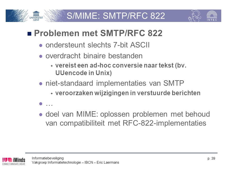 Problemen met SMTP/RFC 822