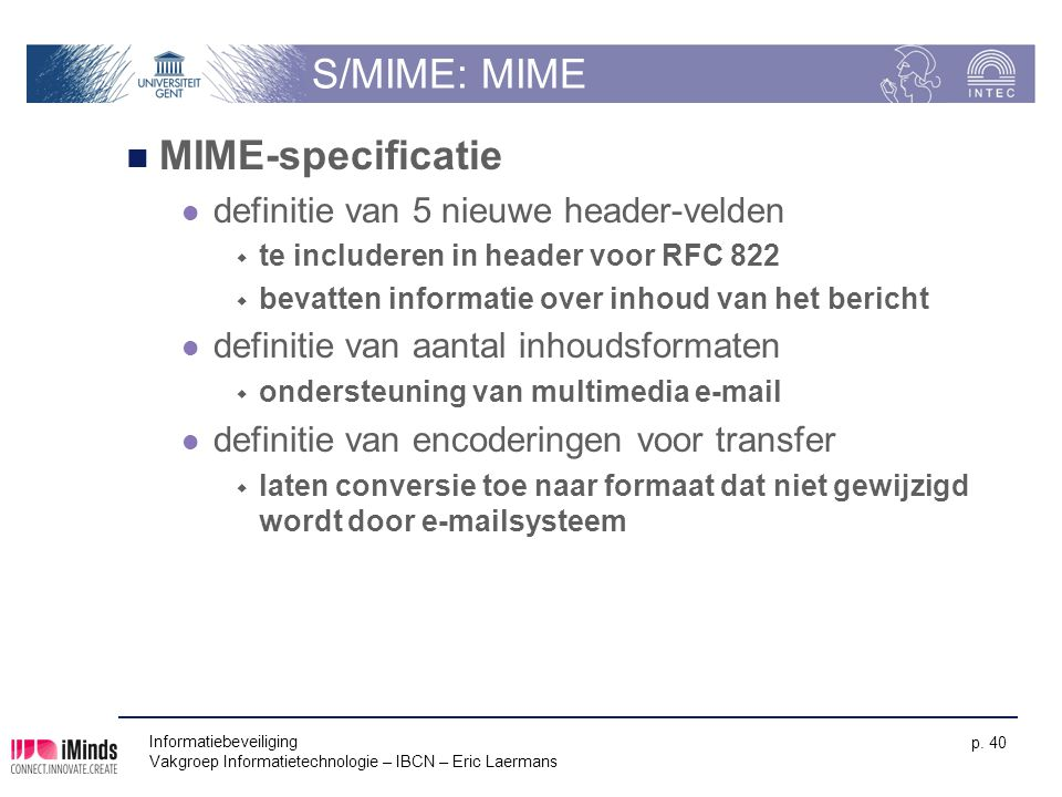 S/MIME: MIME MIME-specificatie definitie van 5 nieuwe header-velden