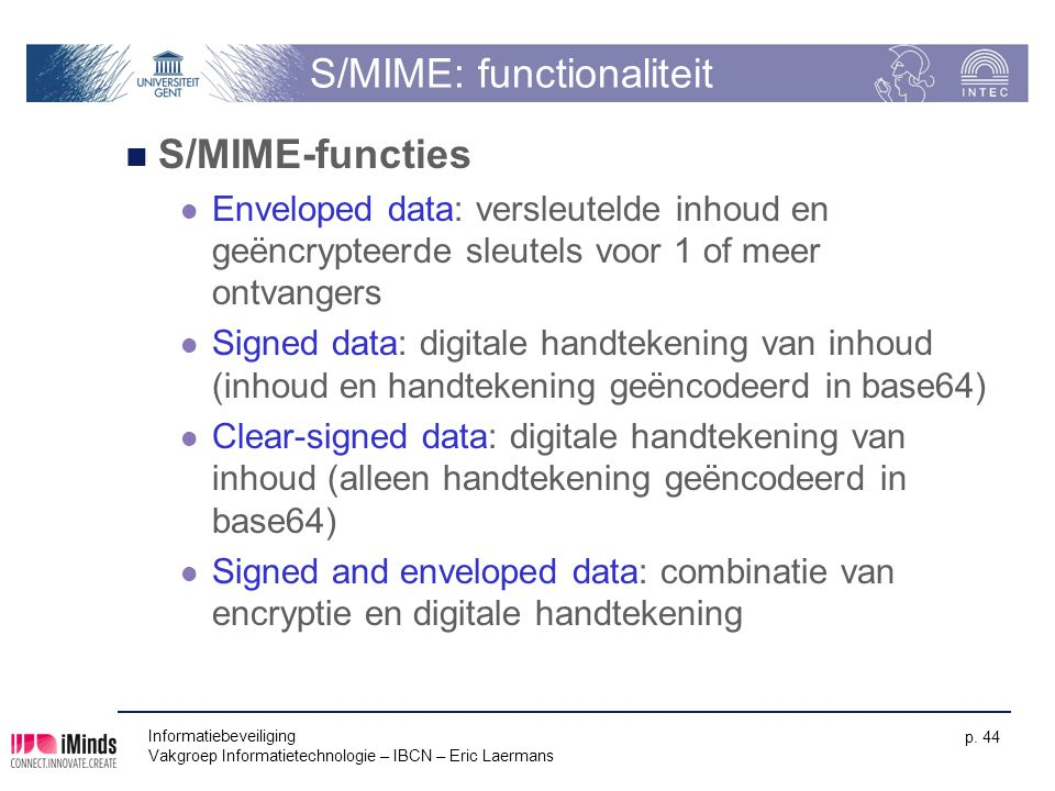 S/MIME: functionaliteit