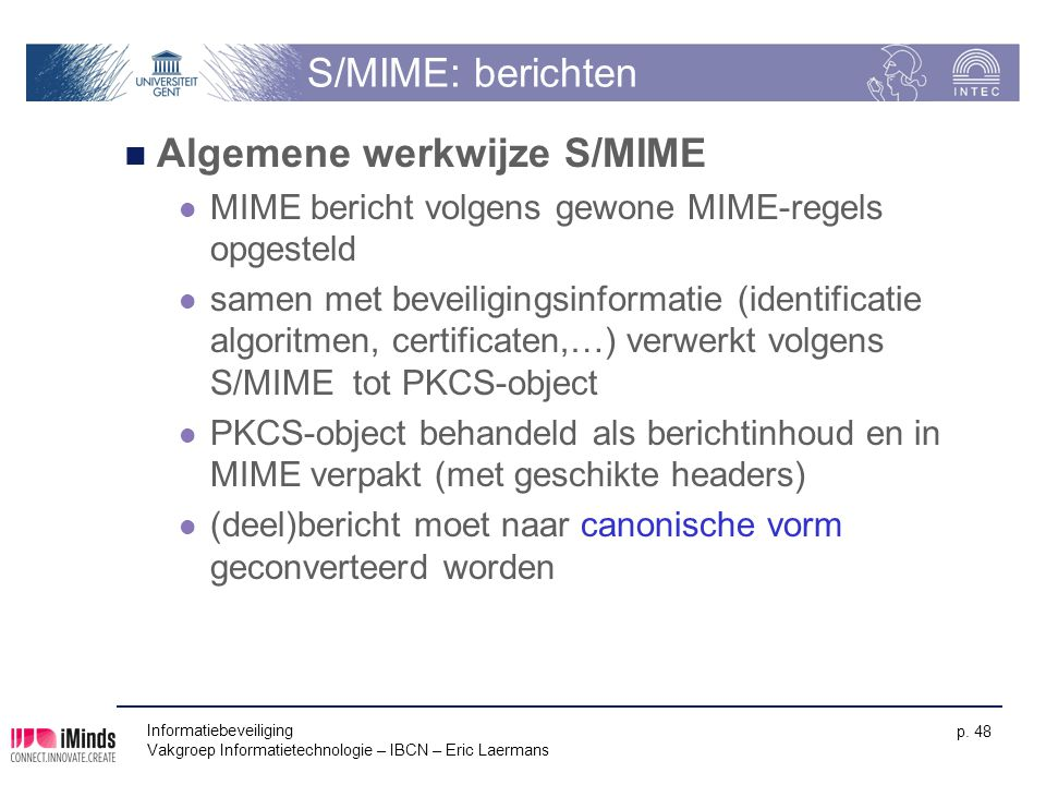 Algemene werkwijze S/MIME