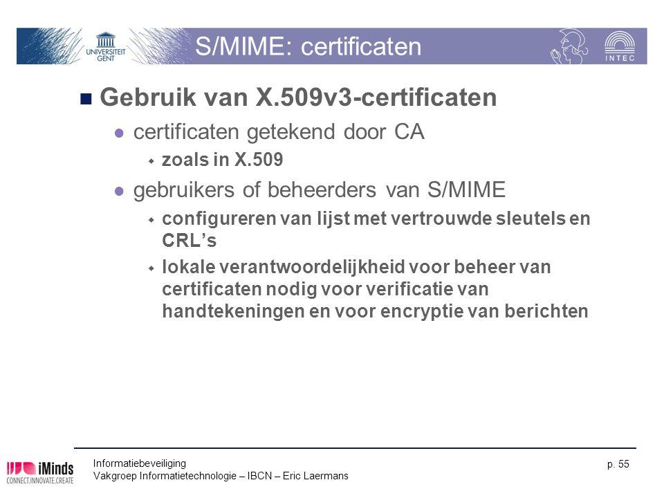 Gebruik van X.509v3-certificaten