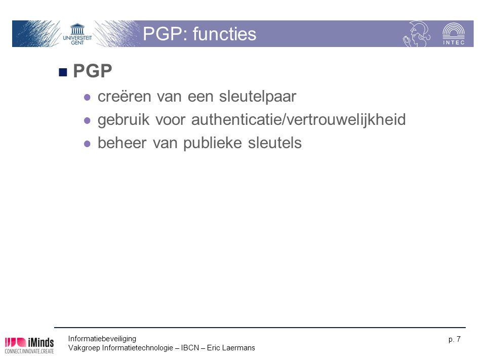 PGP: functies PGP creëren van een sleutelpaar