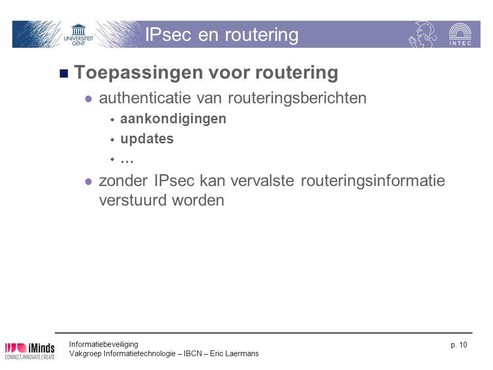 Toepassingen voor routering