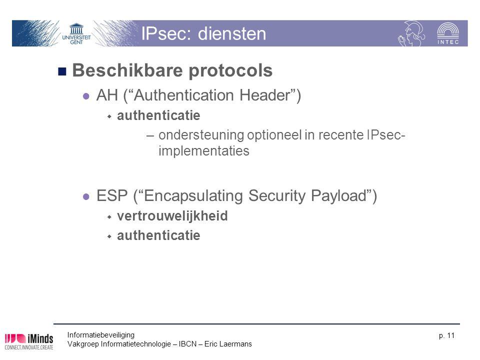 Beschikbare protocols