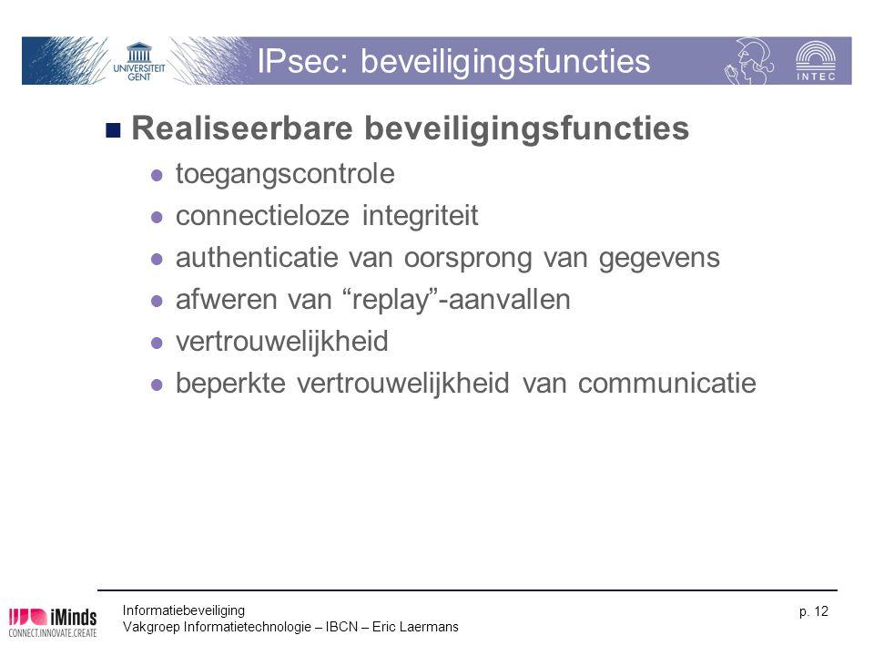 IPsec: beveiligingsfuncties