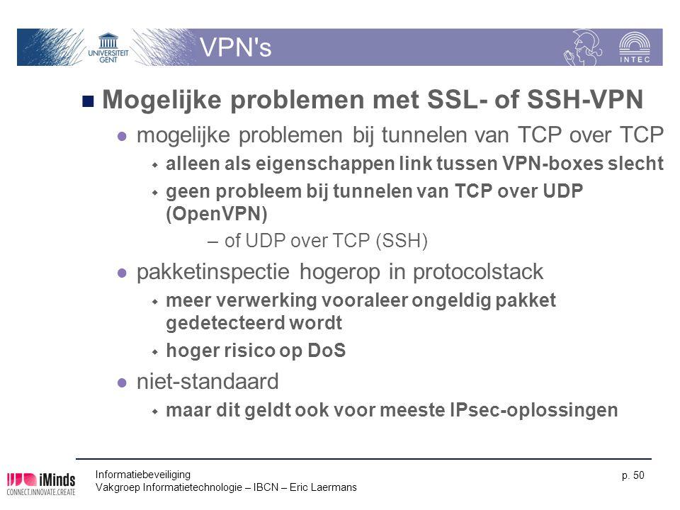 Mogelijke problemen met SSL- of SSH-VPN