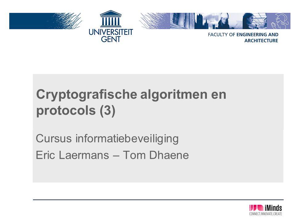 Cryptografische algoritmen en protocols (3)