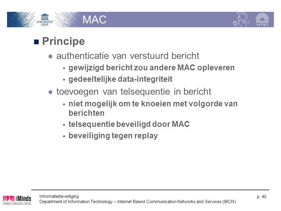 MAC Principe authenticatie van verstuurd bericht