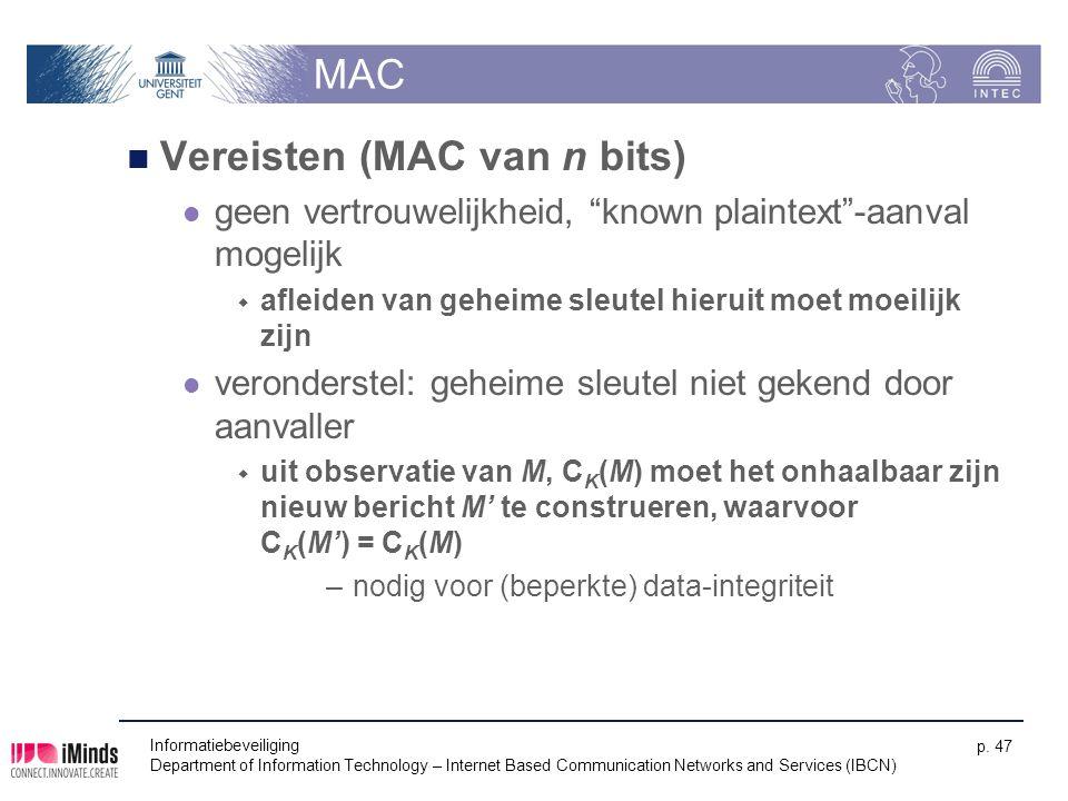 Vereisten (MAC van n bits)