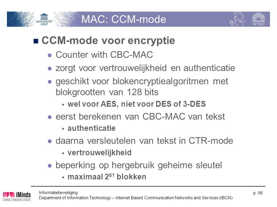 CCM-mode voor encryptie