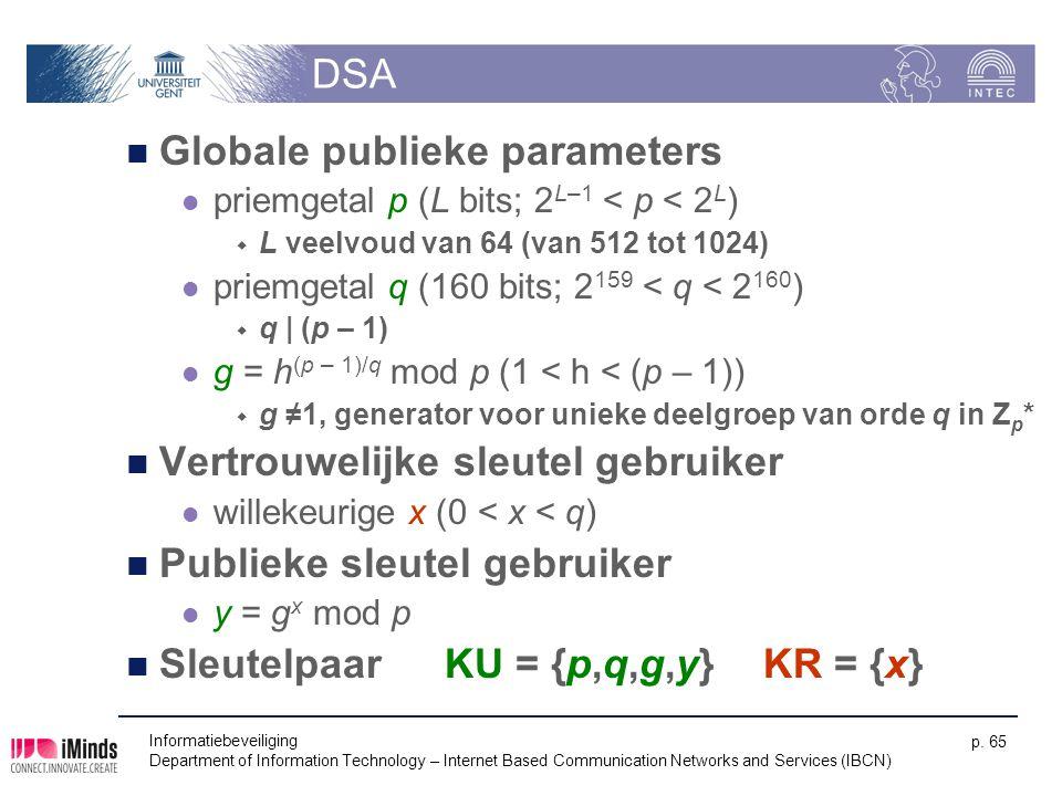Globale publieke parameters