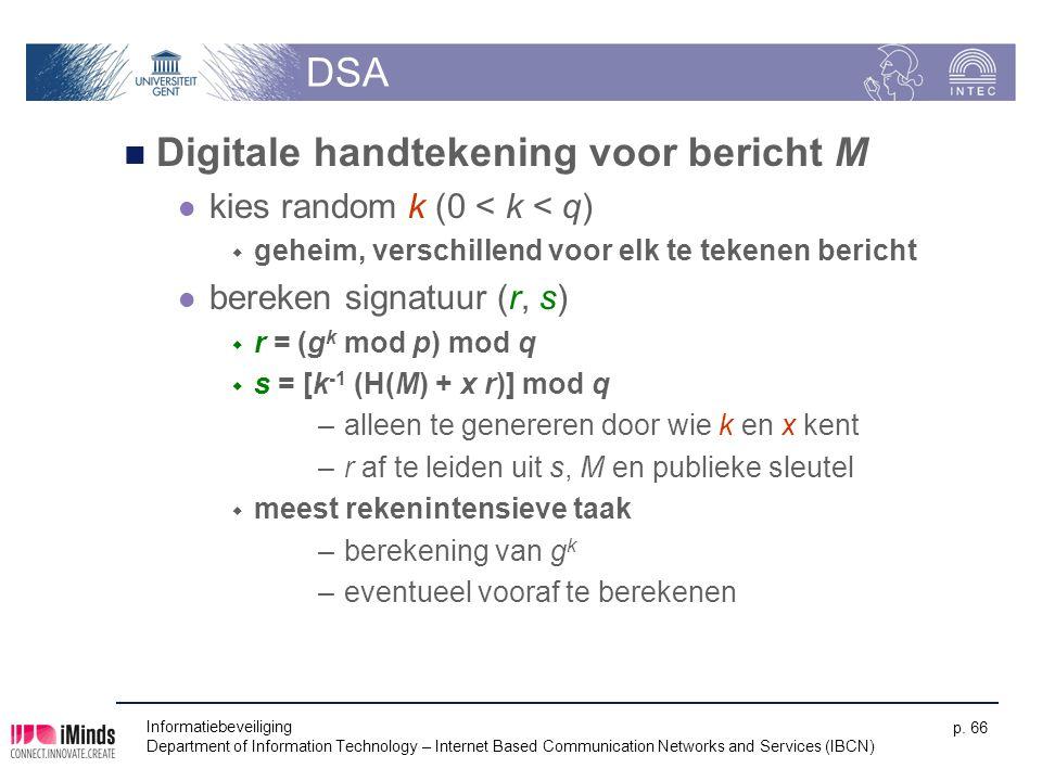 Digitale handtekening voor bericht M