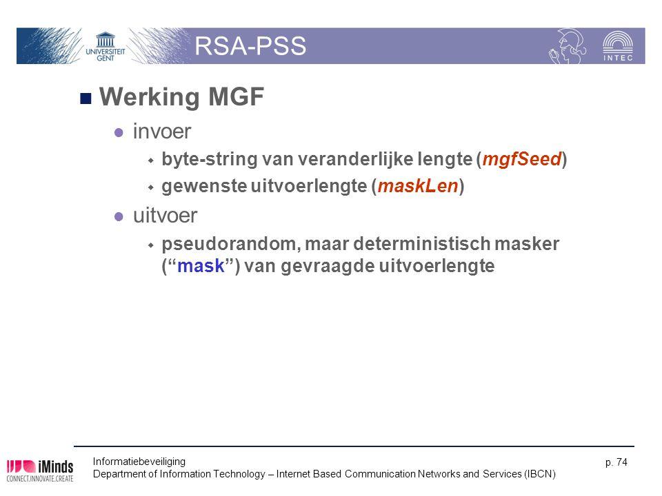 RSA-PSS Werking MGF invoer uitvoer