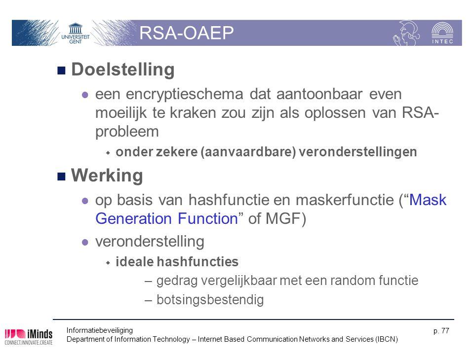 RSA-OAEP Doelstelling Werking