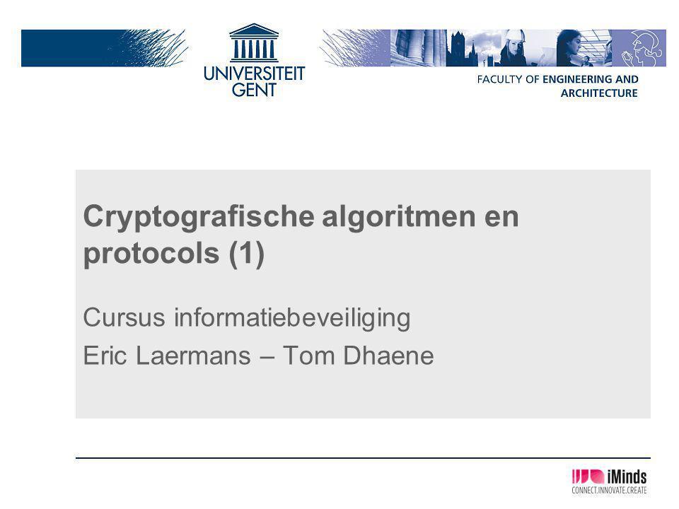 Cryptografische algoritmen en protocols (1)