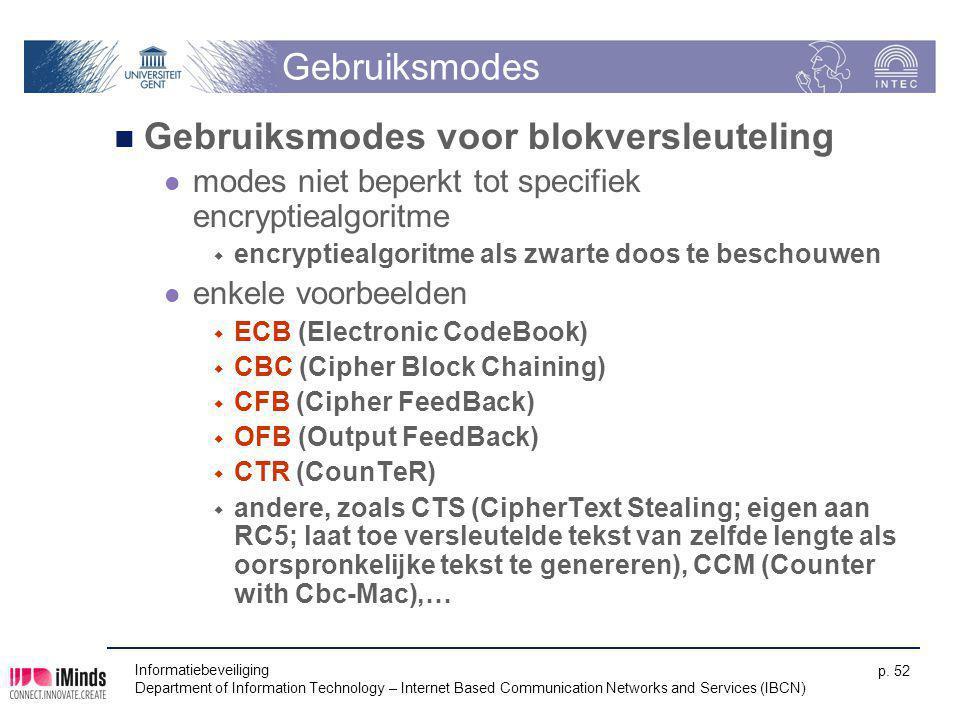 Gebruiksmodes voor blokversleuteling