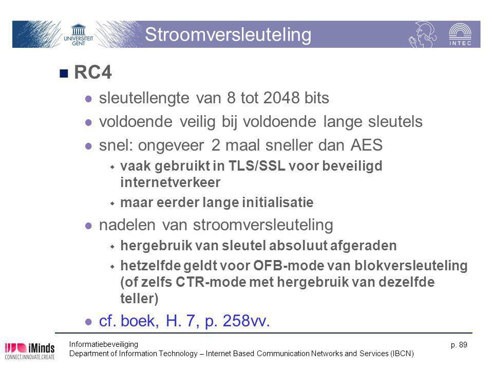 Stroomversleuteling RC4 sleutellengte van 8 tot 2048 bits