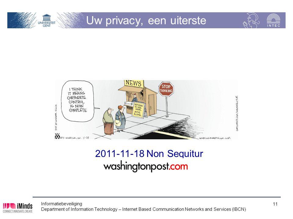 Uw privacy, een uiterste