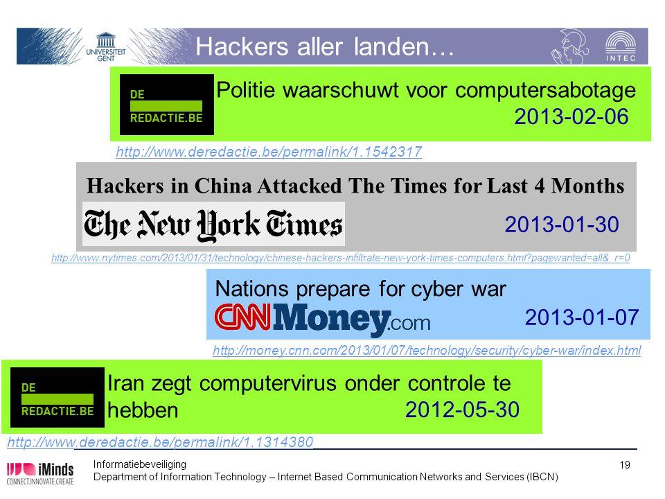 Hackers aller landen… Politie waarschuwt voor computersabotage