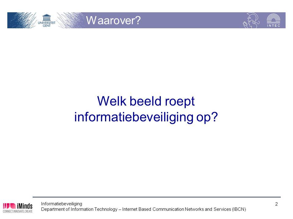 informatiebeveiliging op