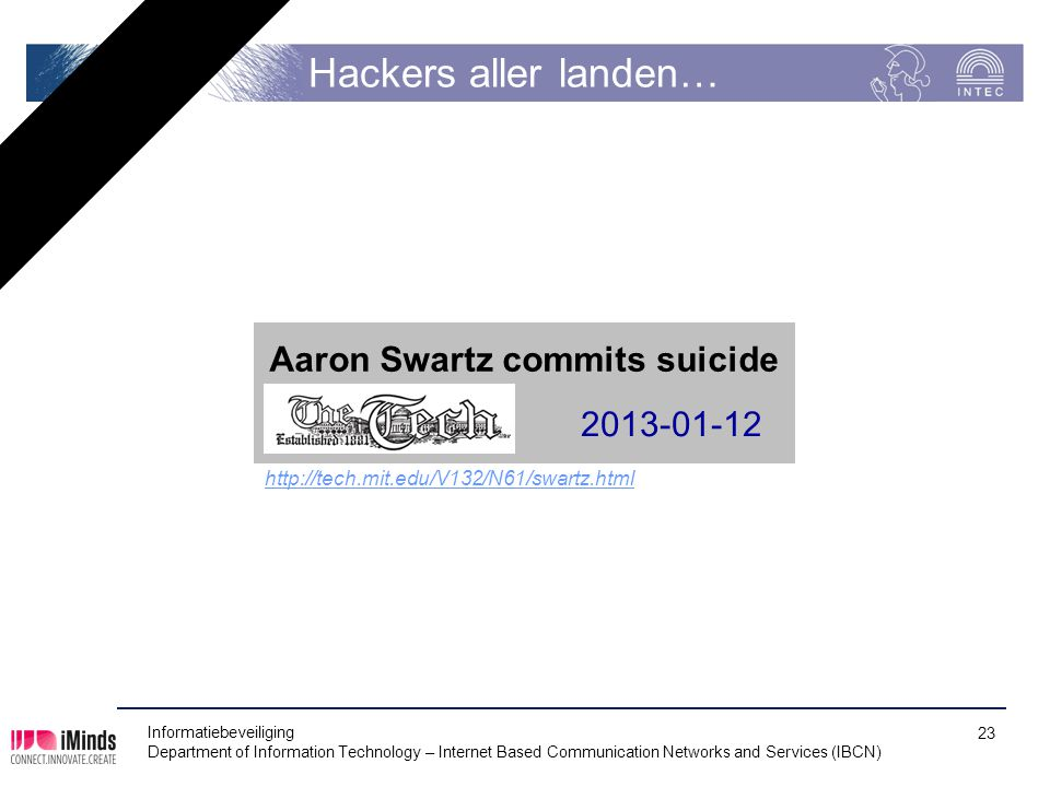 Hackers aller landen… Aaron Swartz commits suicide 2013-01-12