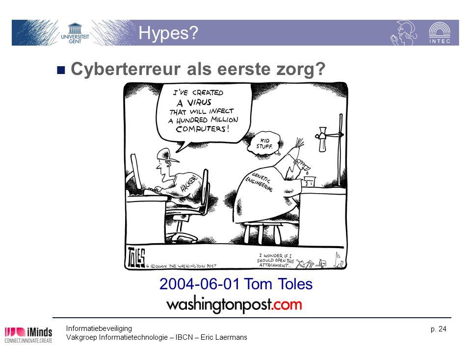 Cyberterreur als eerste zorg