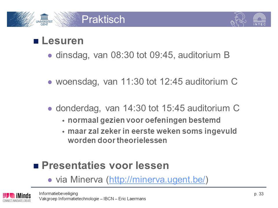 Presentaties voor lessen