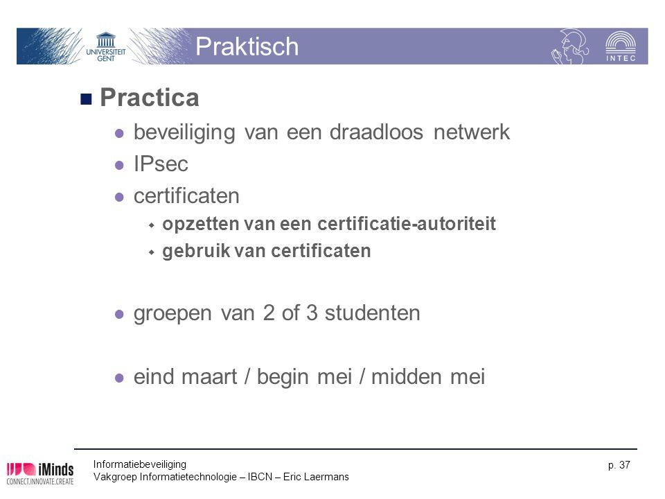 Praktisch Practica beveiliging van een draadloos netwerk IPsec