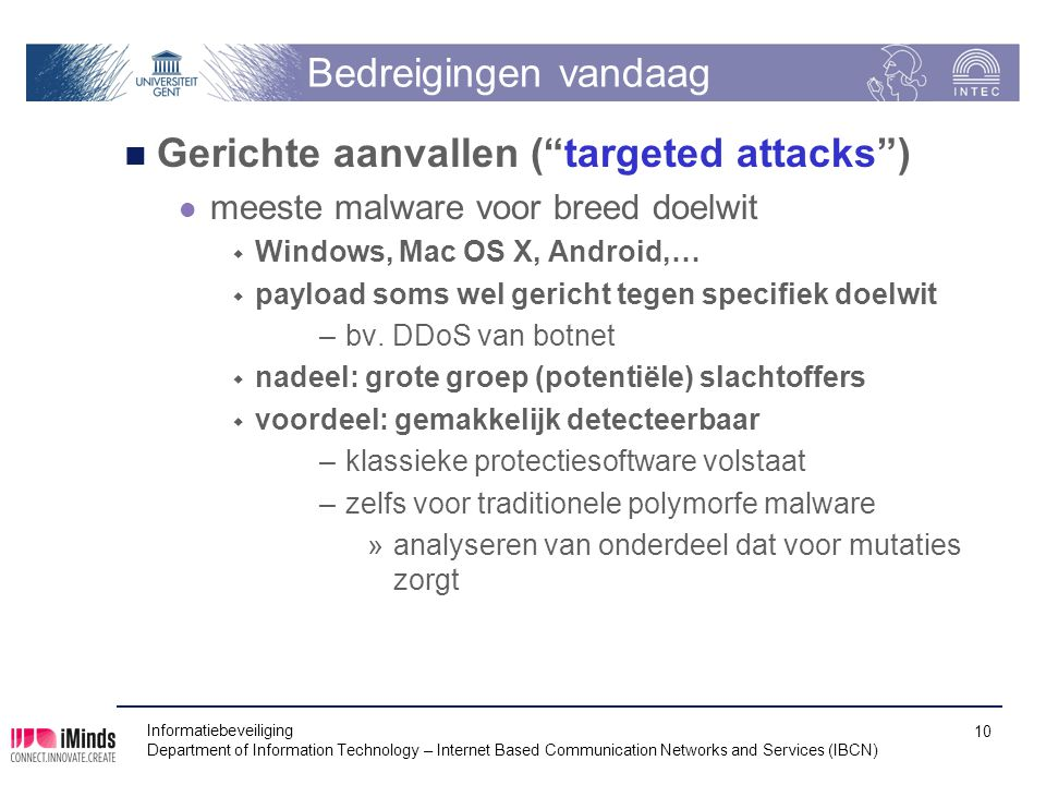 Gerichte aanvallen ( targeted attacks )