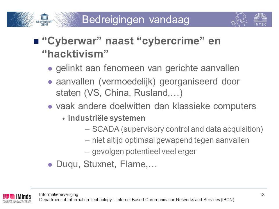 Cyberwar naast cybercrime en hacktivism