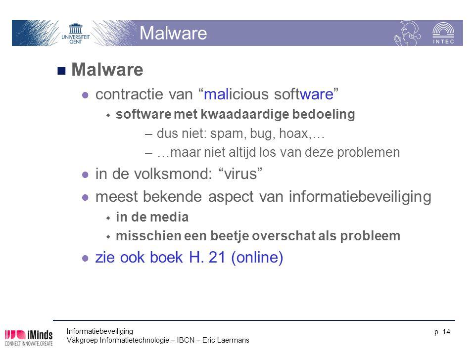 Malware Malware contractie van malicious software