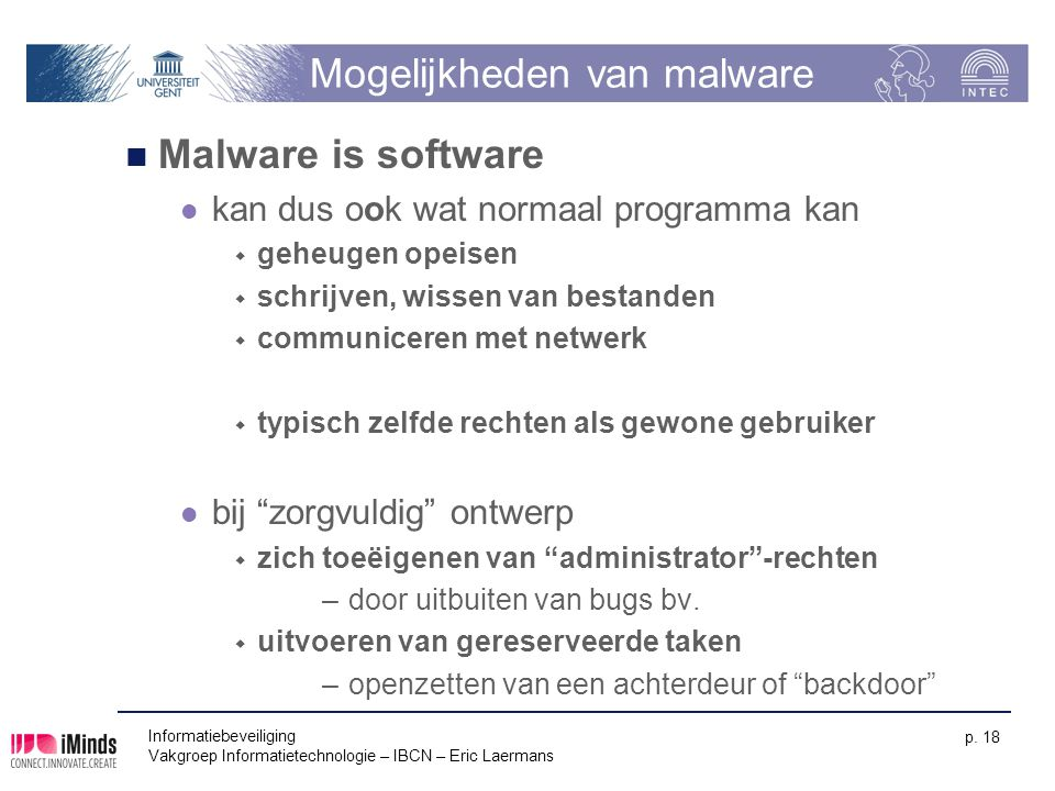 Mogelijkheden van malware