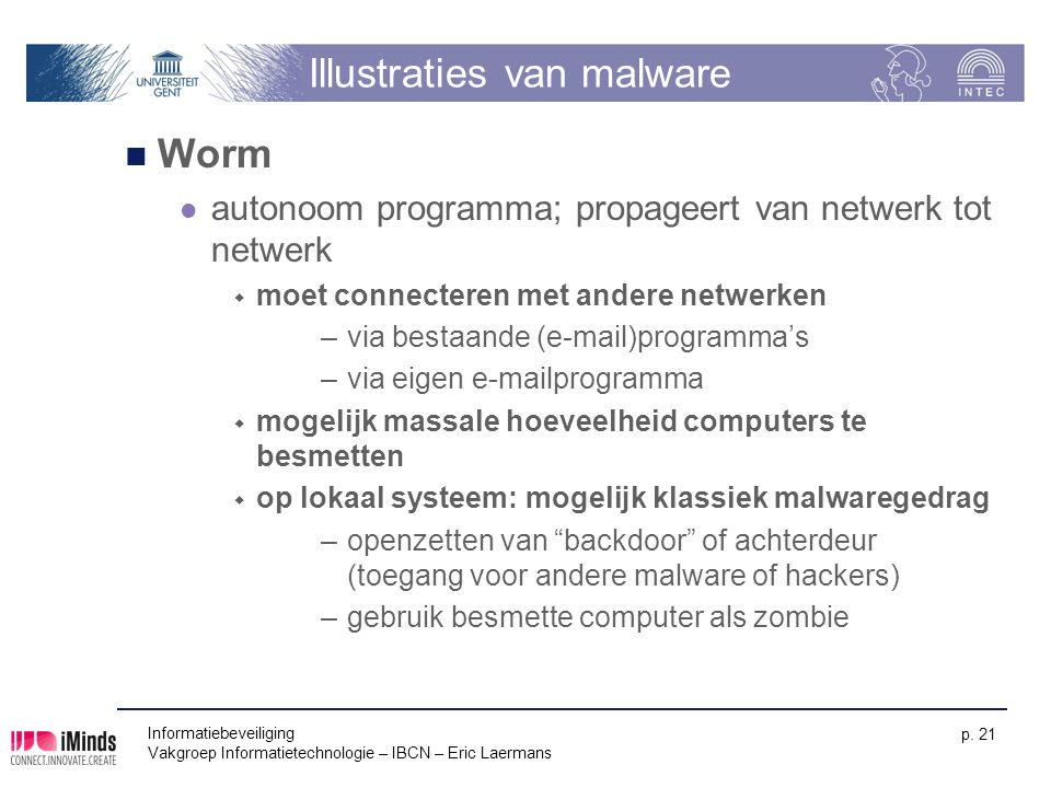 Illustraties van malware