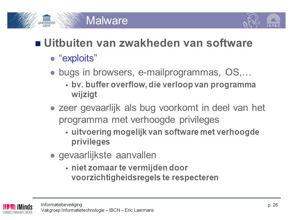 Uitbuiten van zwakheden van software
