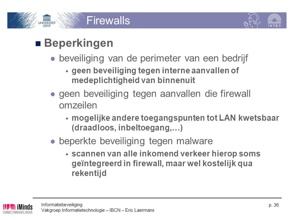 Firewalls Beperkingen beveiliging van de perimeter van een bedrijf