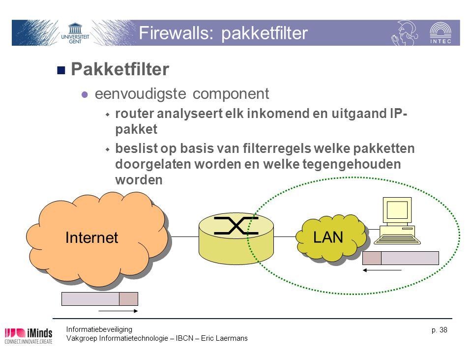 Firewalls: pakketfilter