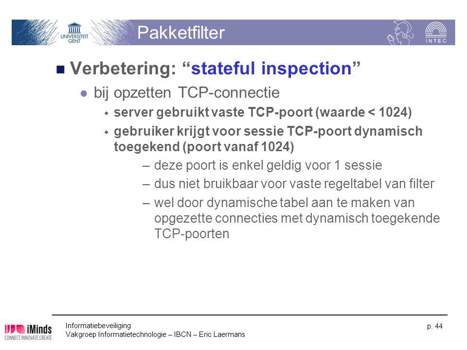 Verbetering: stateful inspection