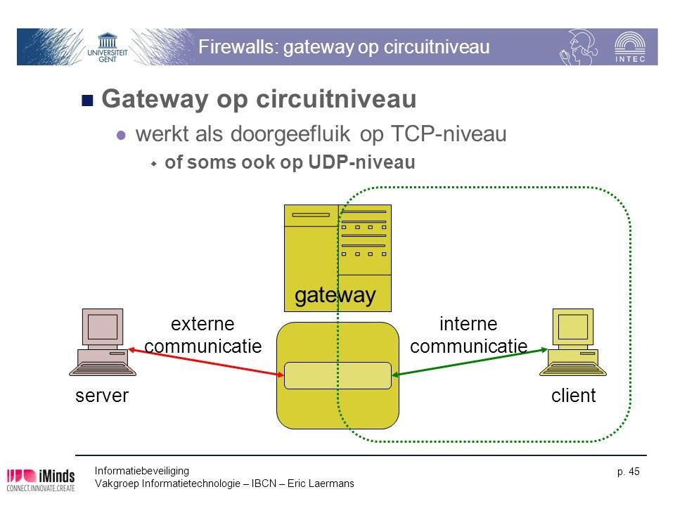 Firewalls: gateway op circuitniveau