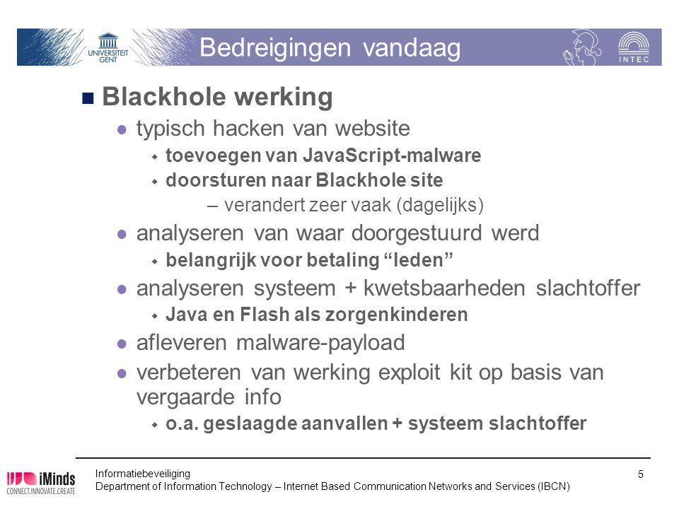 Bedreigingen vandaag Blackhole werking typisch hacken van website