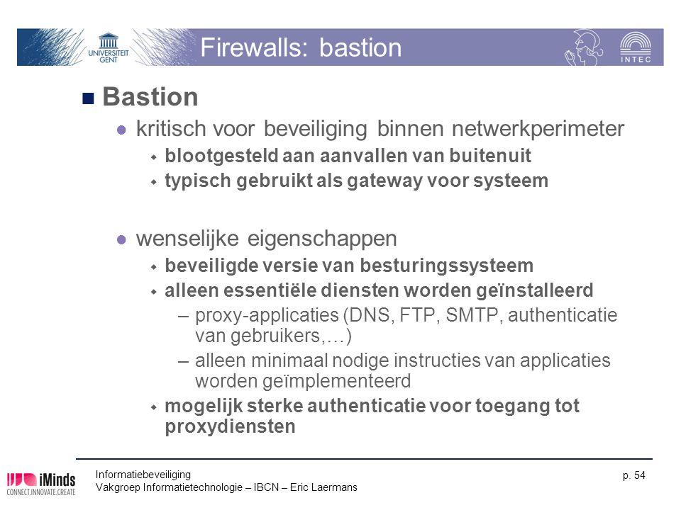 Firewalls: bastion Bastion