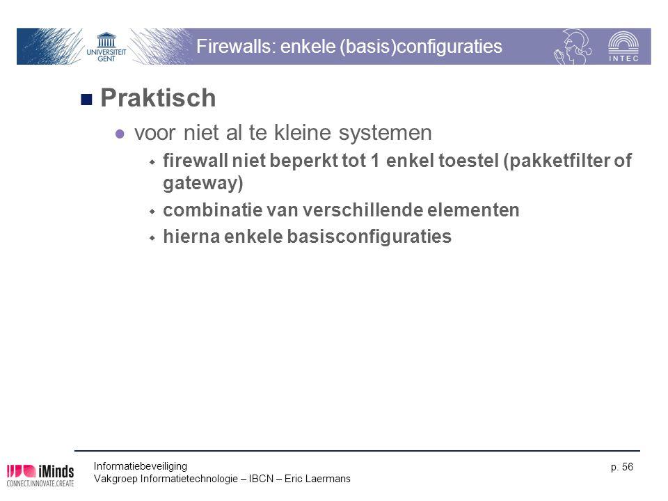 Firewalls: enkele (basis)configuraties